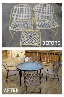 As Long The Furniture Frames Aren T Broken We Can Give Just About Any Type Of Pool Patio Or